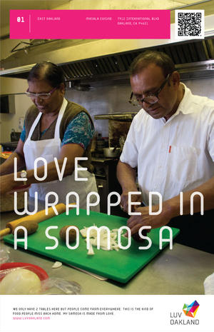 Love wrapped in a somosa
