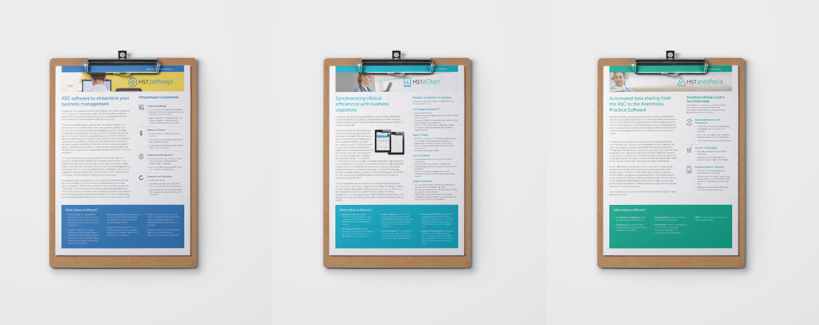 Healthcare datasheet design
