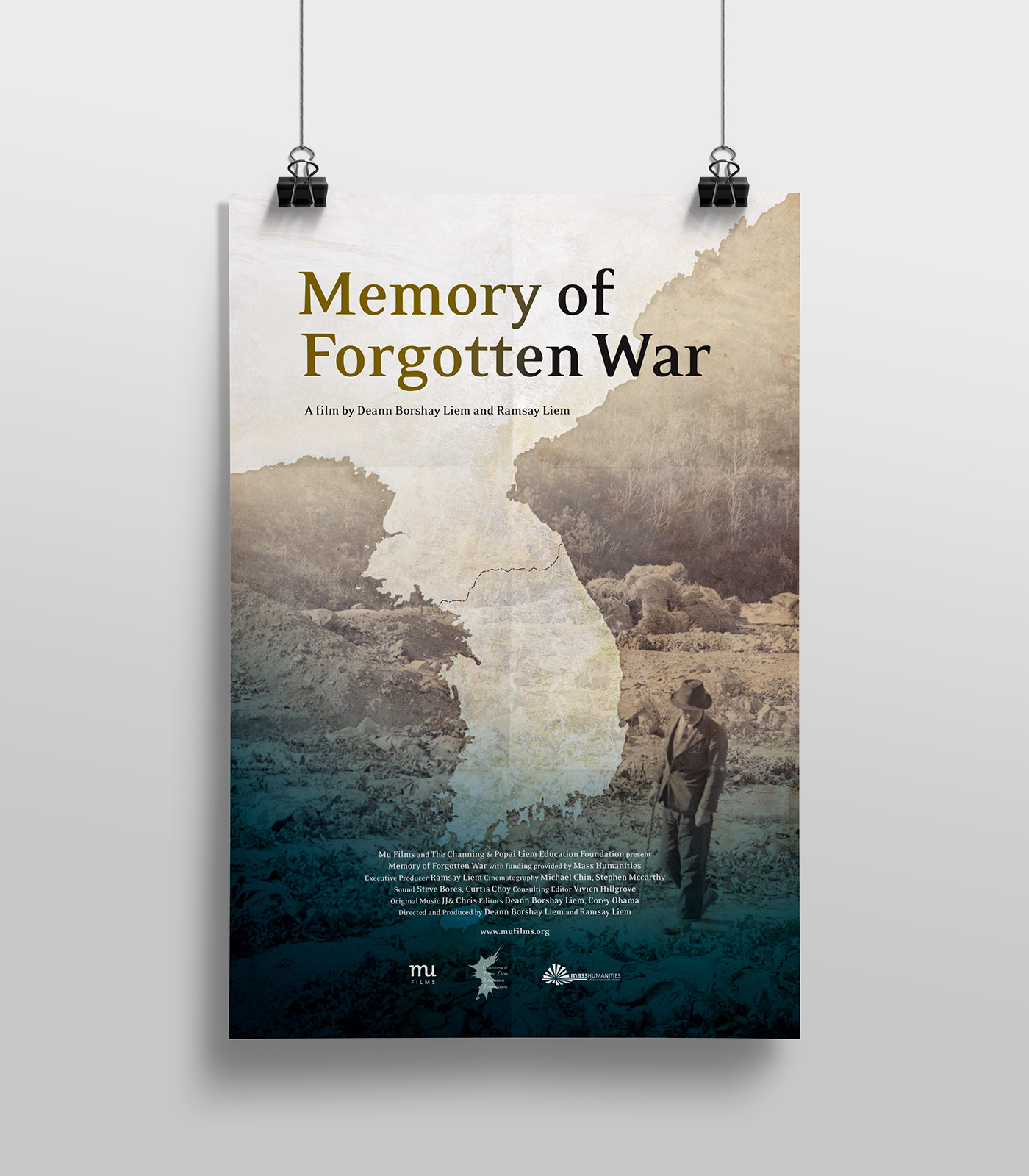 documentary poster design of memory of forgotten war