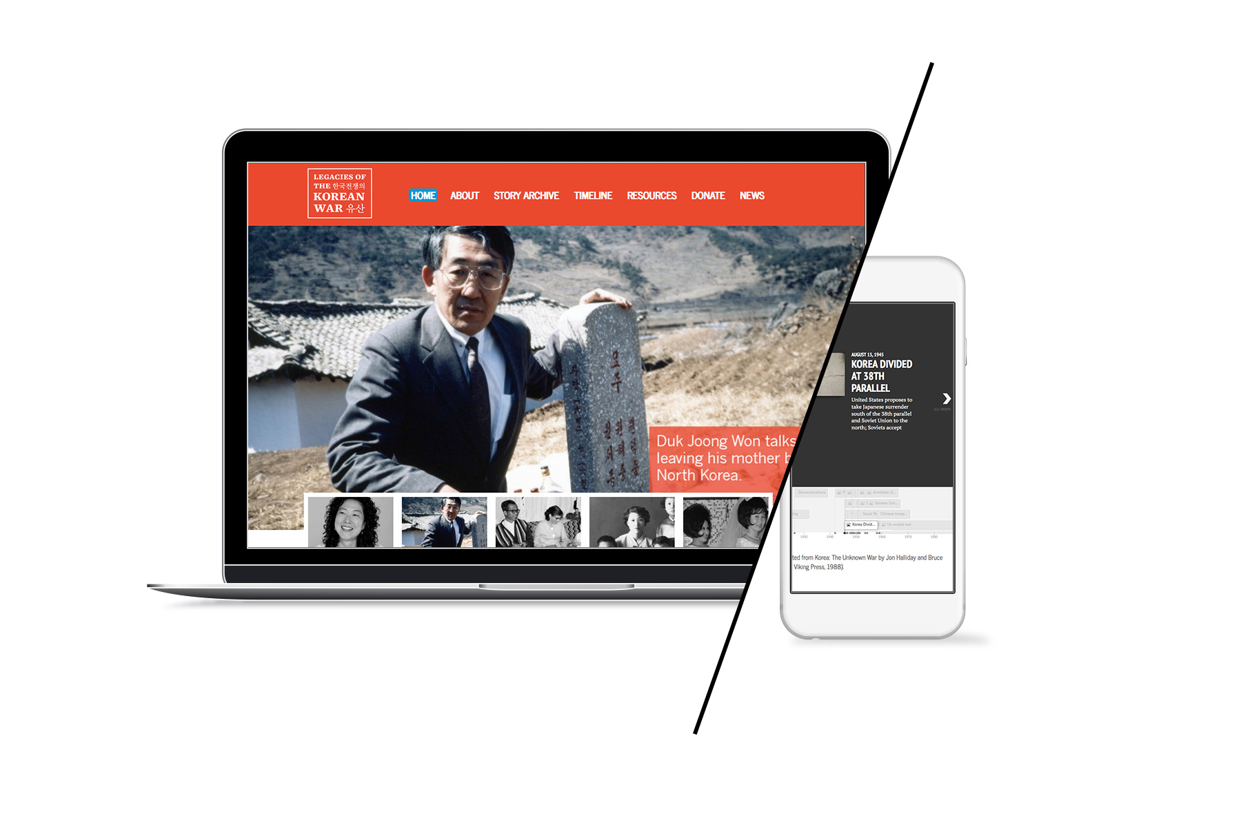 web design legacies of the korean war documentary